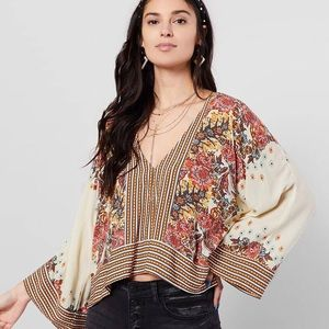 NWT Free People Mix N Match Top floral M